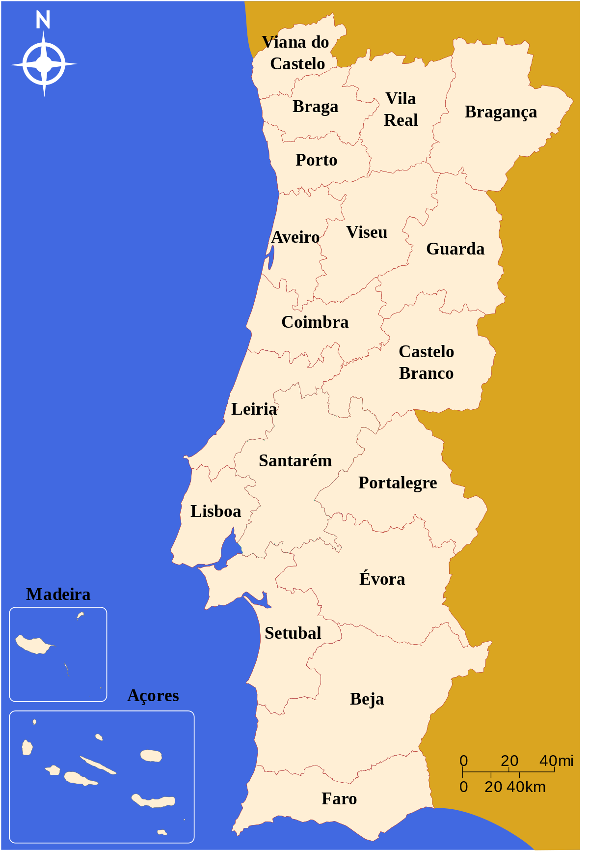 Os distritos do meu país